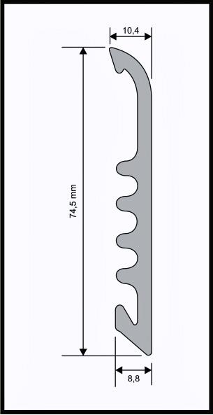 Battiscopa Large in PVC